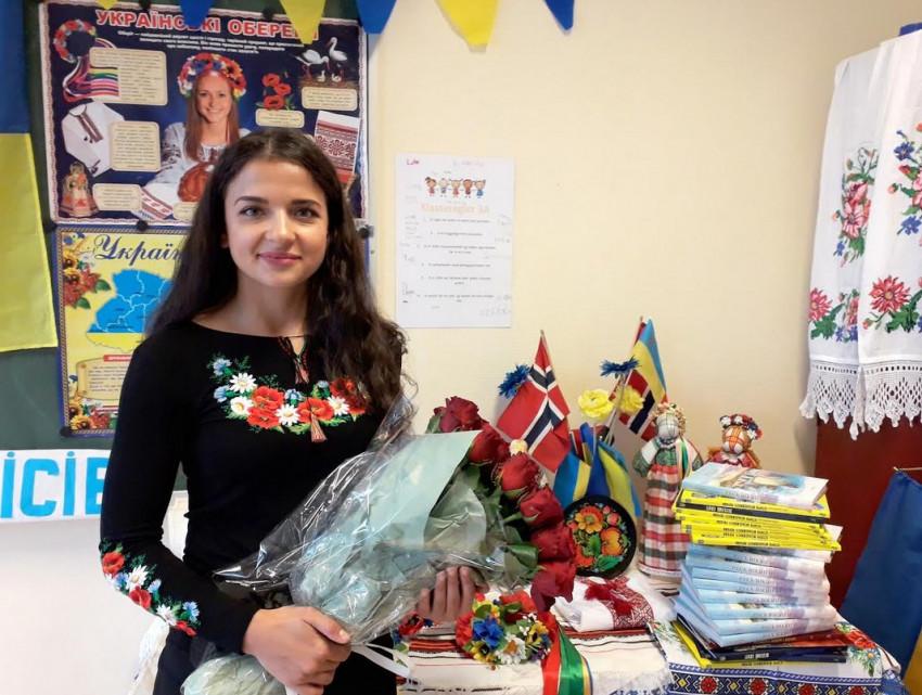 Учителька української мови і літератури пані Наталія
